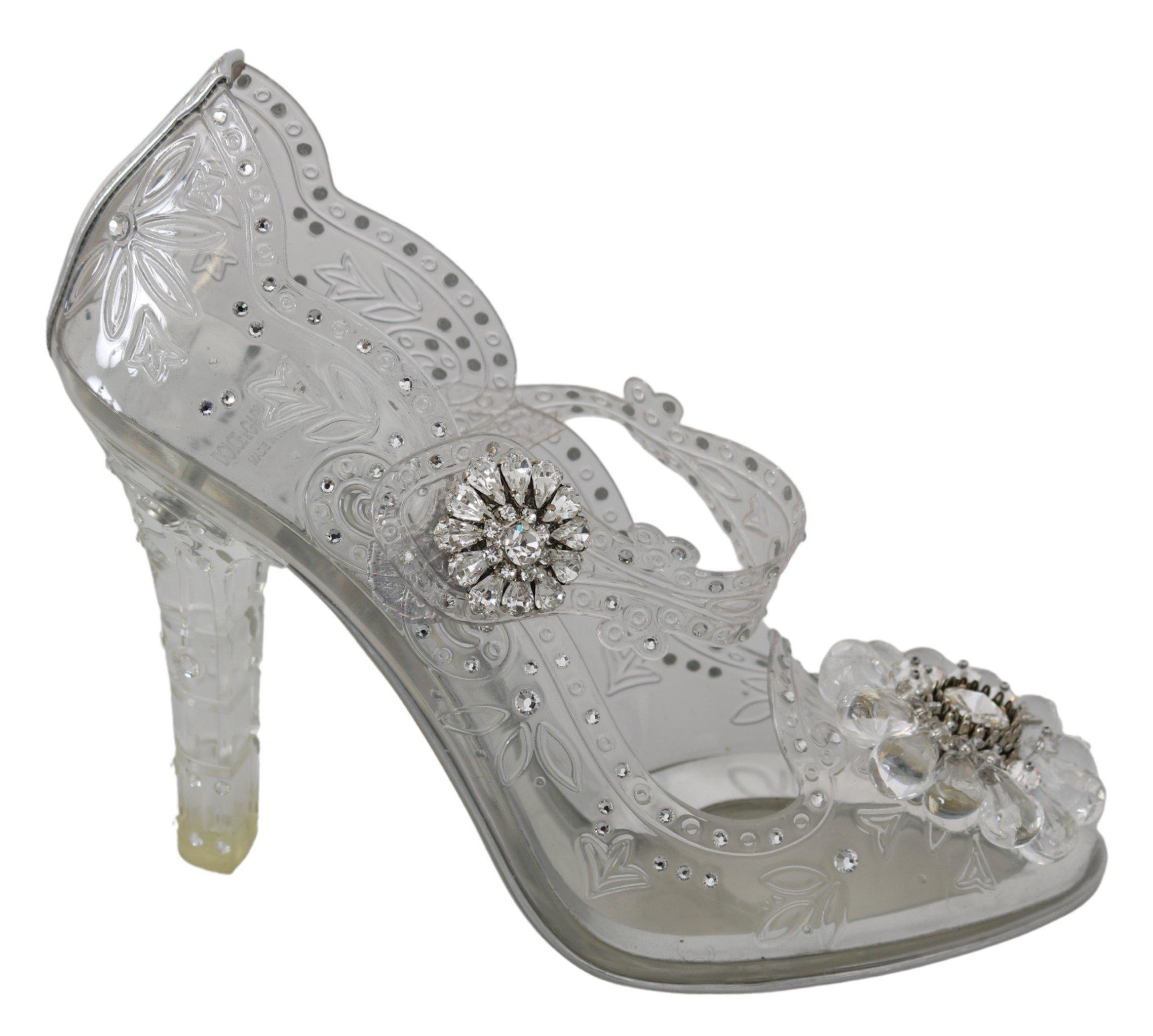 Dolce & Gabbana Women's CINDERELLA Crystal Pumps Transparent LA7278 - EU40/US9.5