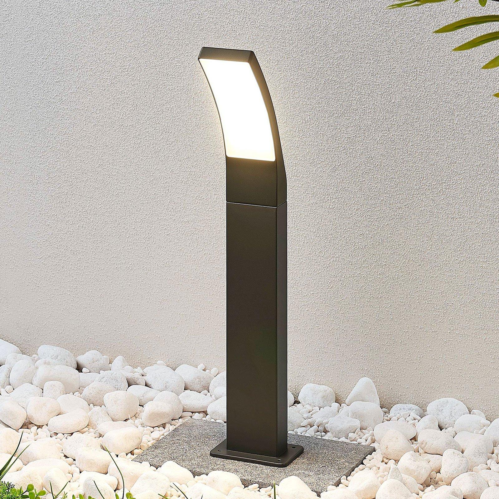 LED-vegglampe Ilvita, antrasitt