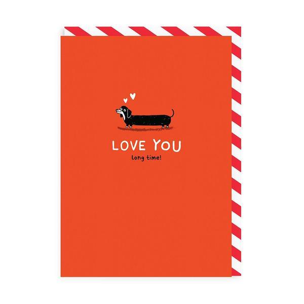 Love You Long Time Enamel Pin Greeting Card