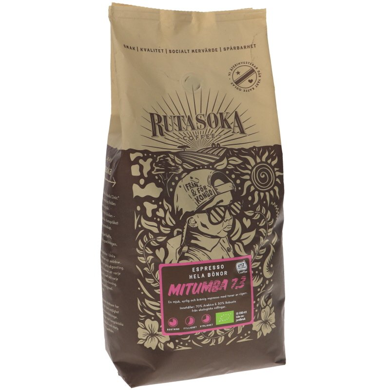 Luomu Mitumba Espressokahvi - 33% alennus