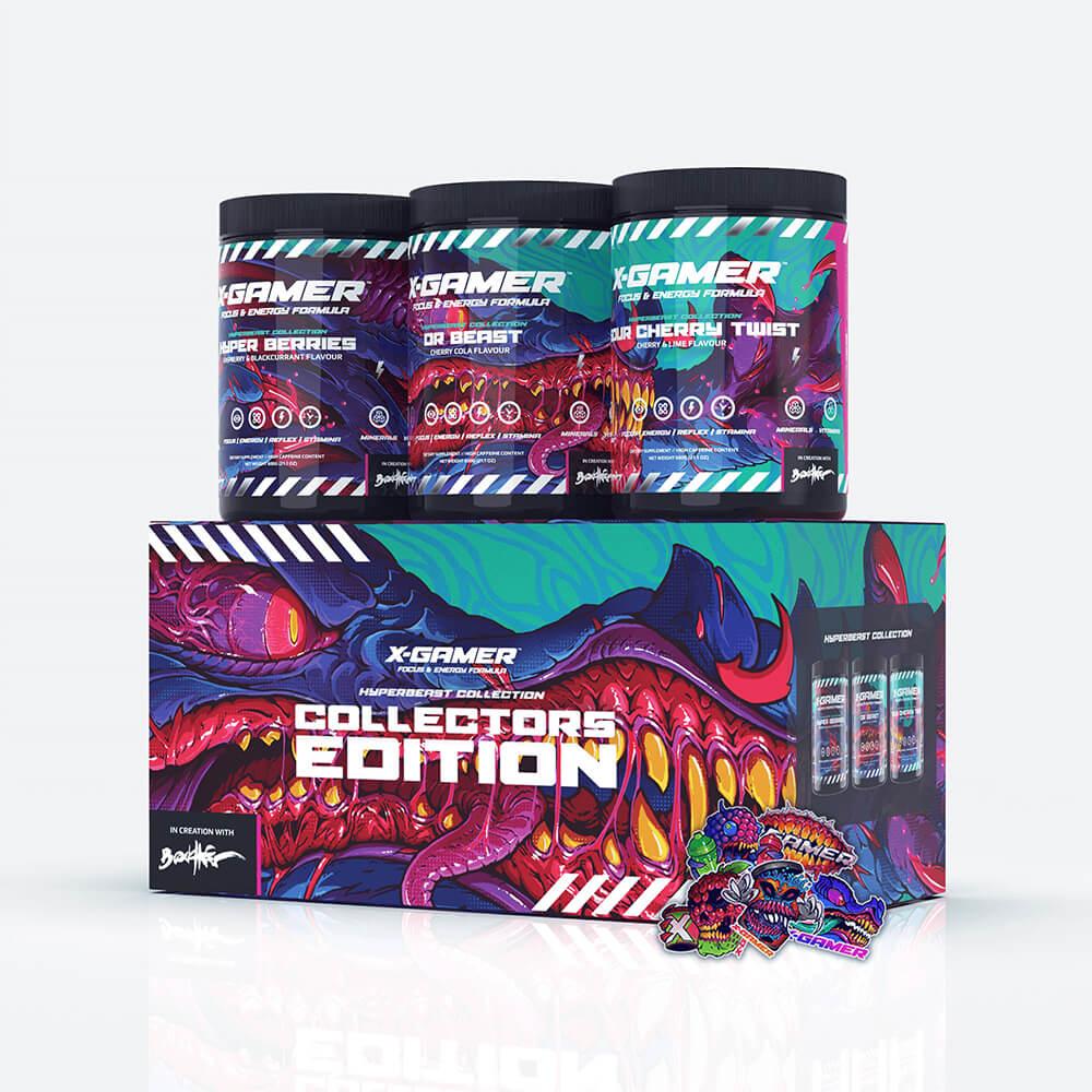 X-GAMER X-Tubz Hyper Beast Collection Box 3 x 600g