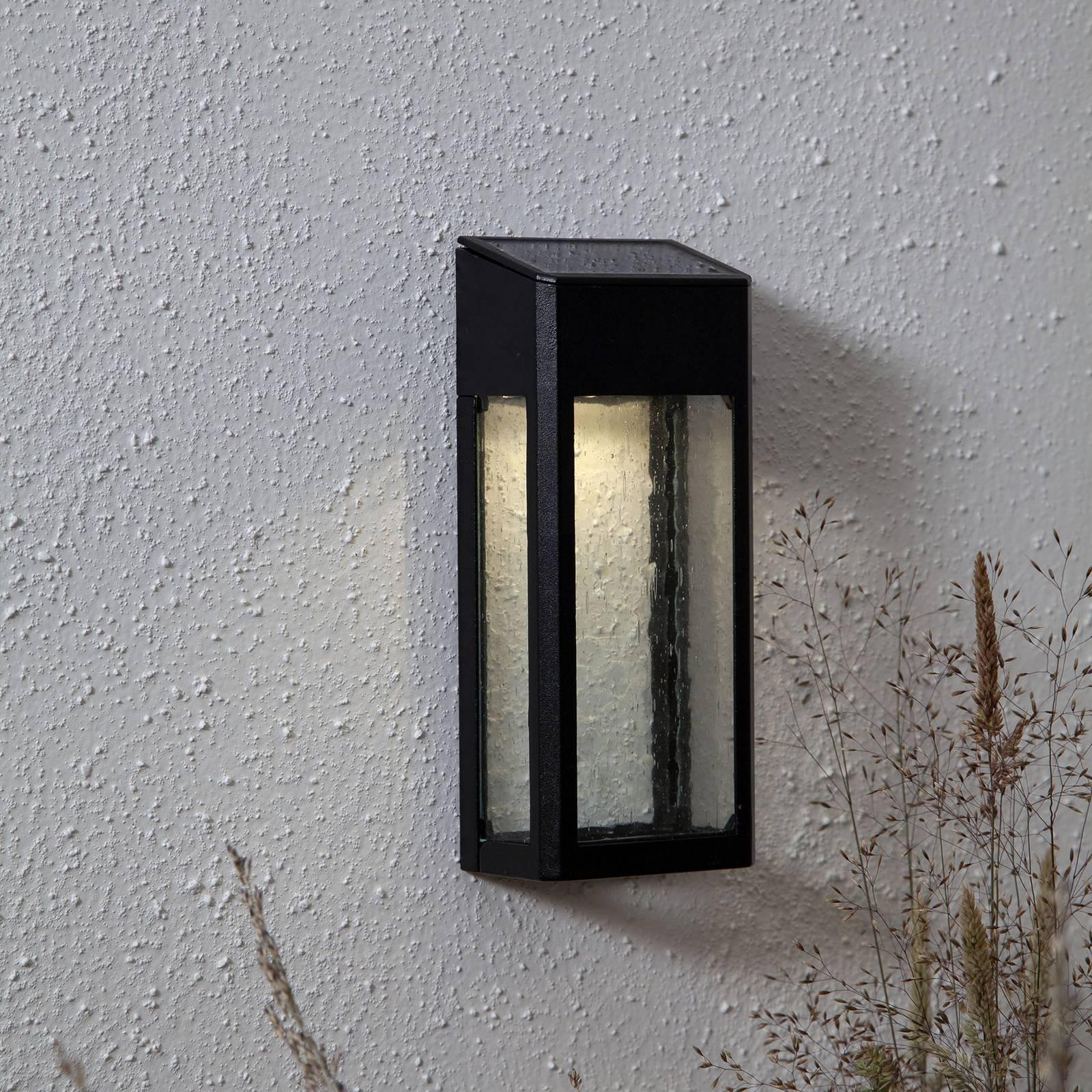 LED-solvegglampe Wally av aluminium