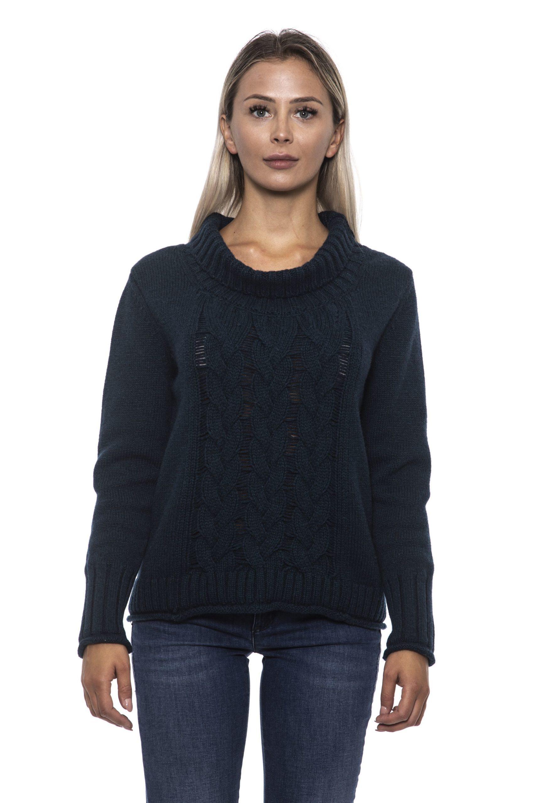 Alpha Studio Women's Bluspecial Sweater Blue AL1192609 - IT42   S