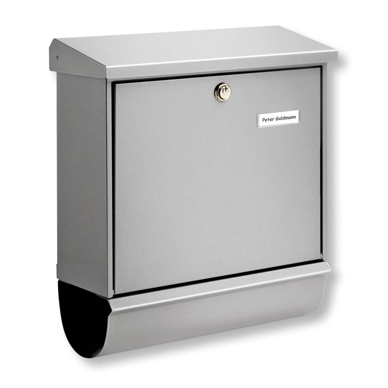 Comfort-set -postilaatikko lehtirullalla, hopea