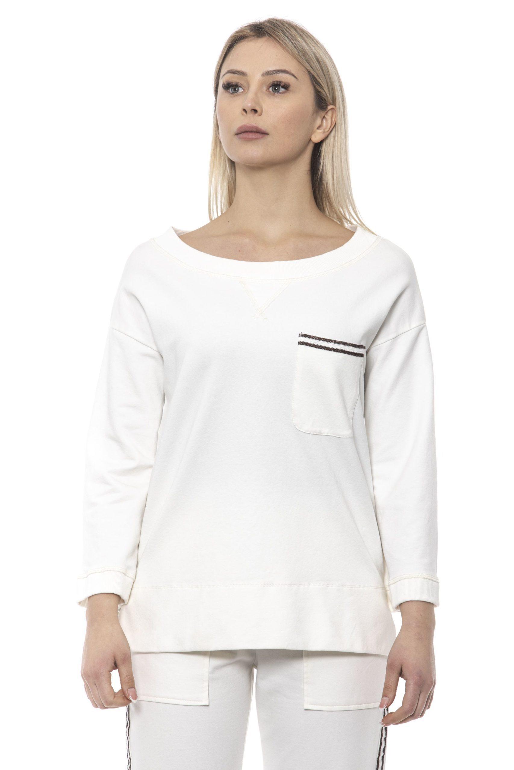 Alpha Studio Women's E C R U' Sweater White AL1375197 - IT40 | XS