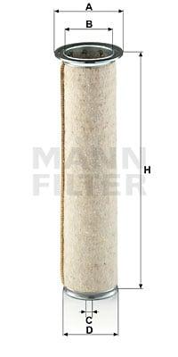 Toisioilmasuodatin MANN-FILTER CF 922