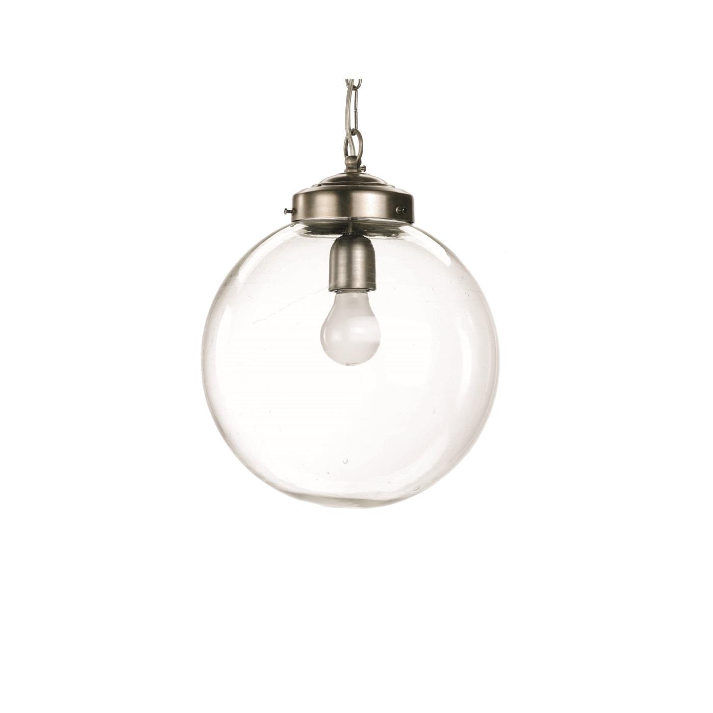 Taklampa Ball 30 cm klarglas, Nordal