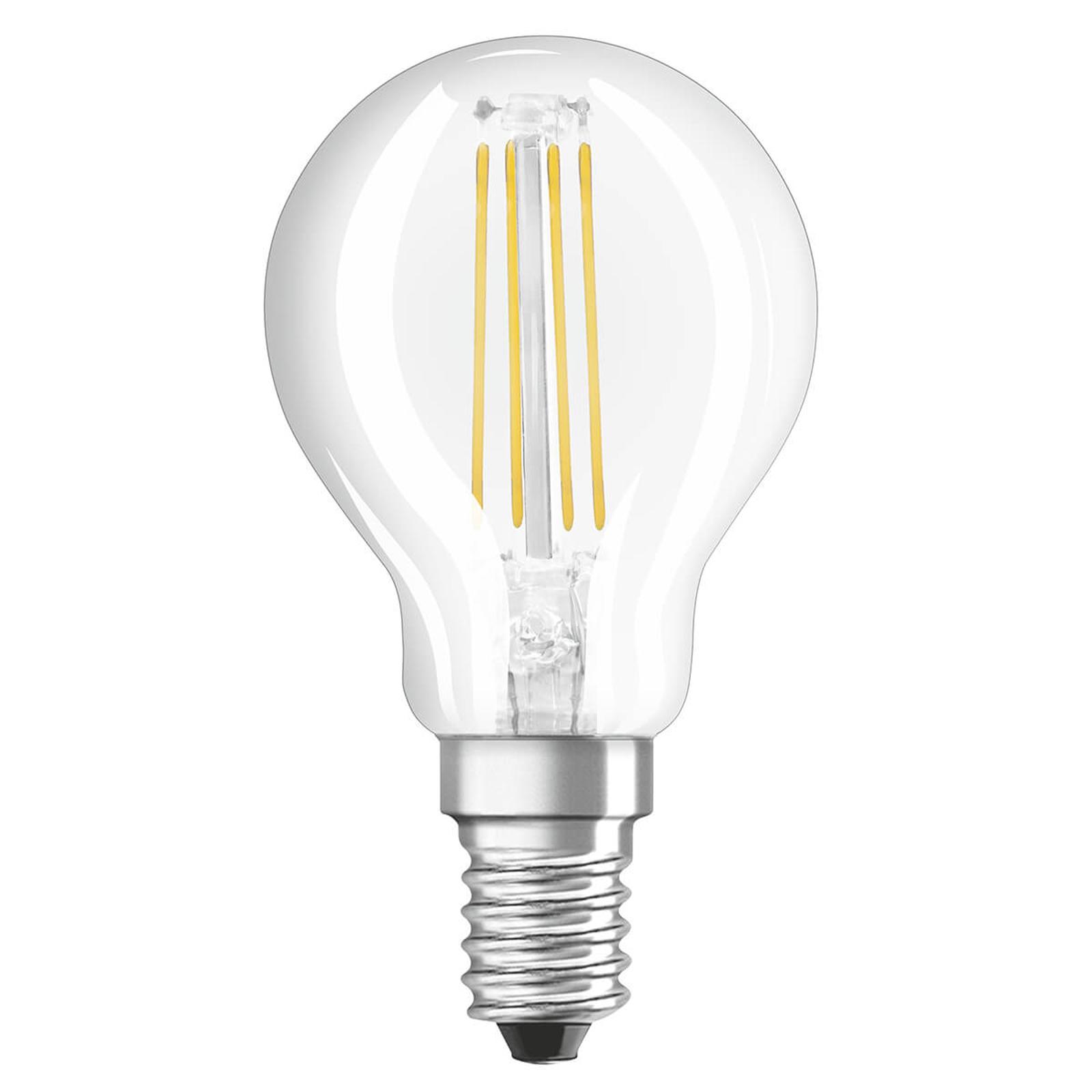 OSRAM-LED-golfpallolamppu E14 4W, 470 lm