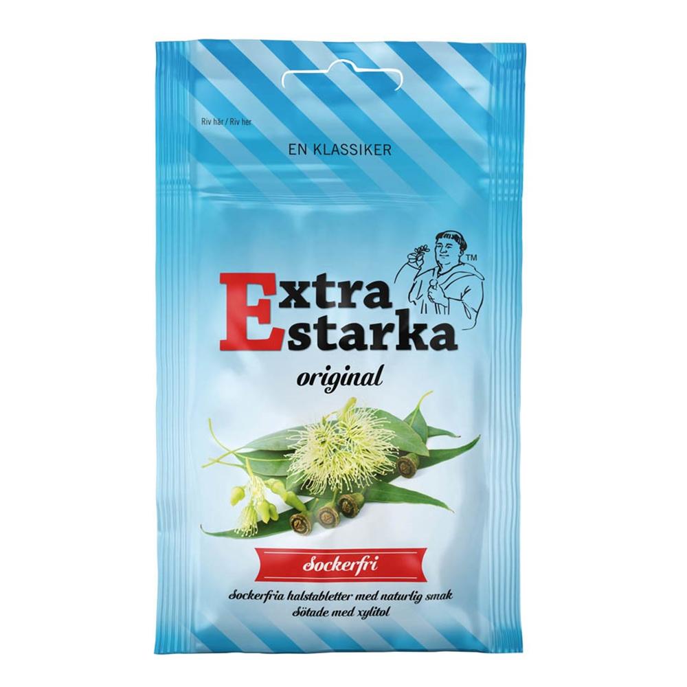Extra Starka Sockerfri Halstabletter