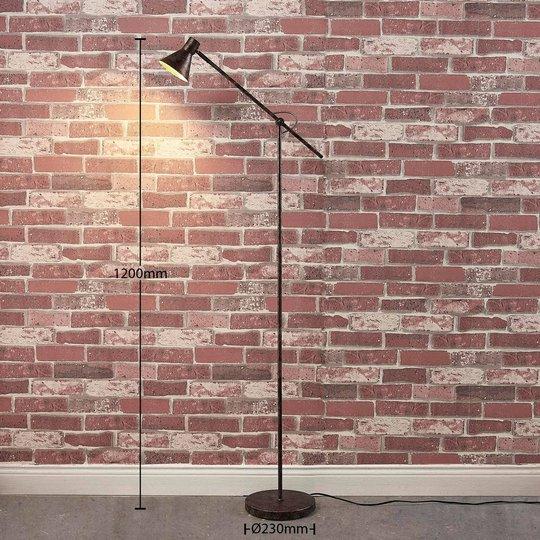 Easydim-LED-lattiavalaisin Zera, ruoste-kulta
