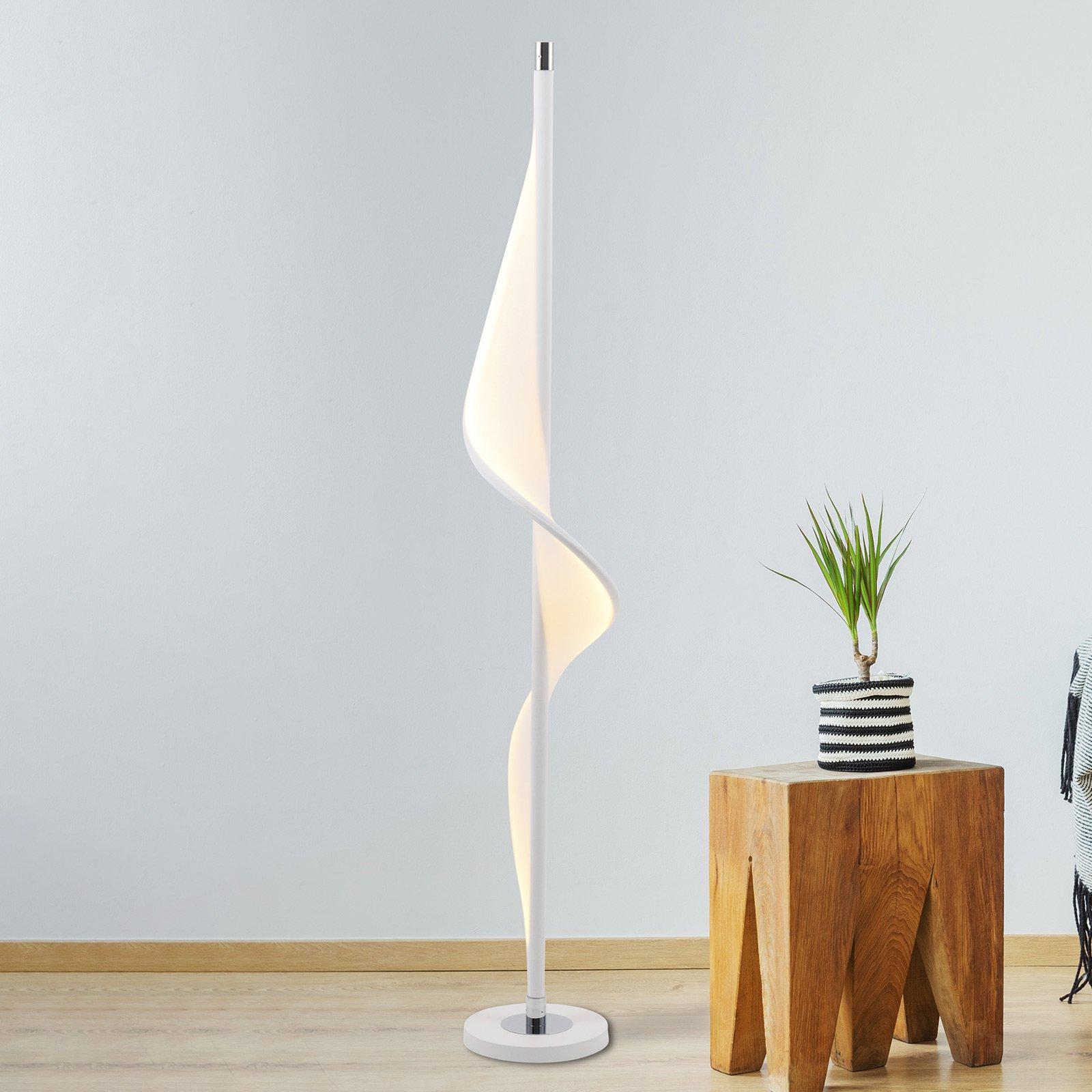 LED-gulvlampe Bandera med bølgeformet design