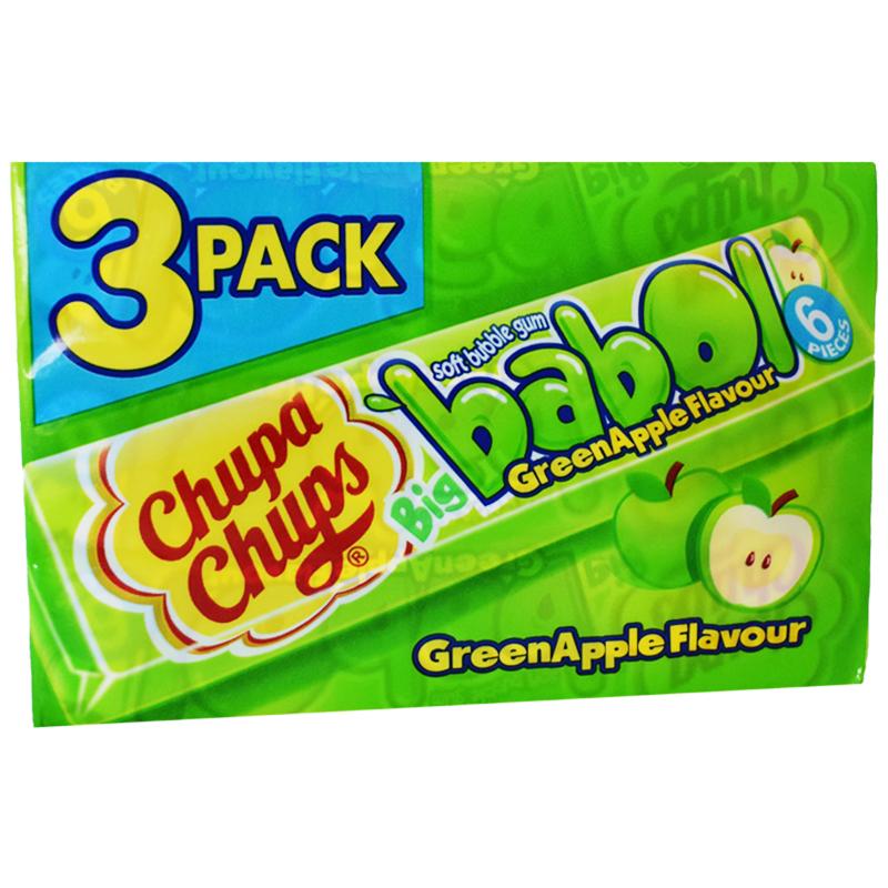 "Tuggummi ""Green Apple"" 3 x 27,6g - 33% rabatt"