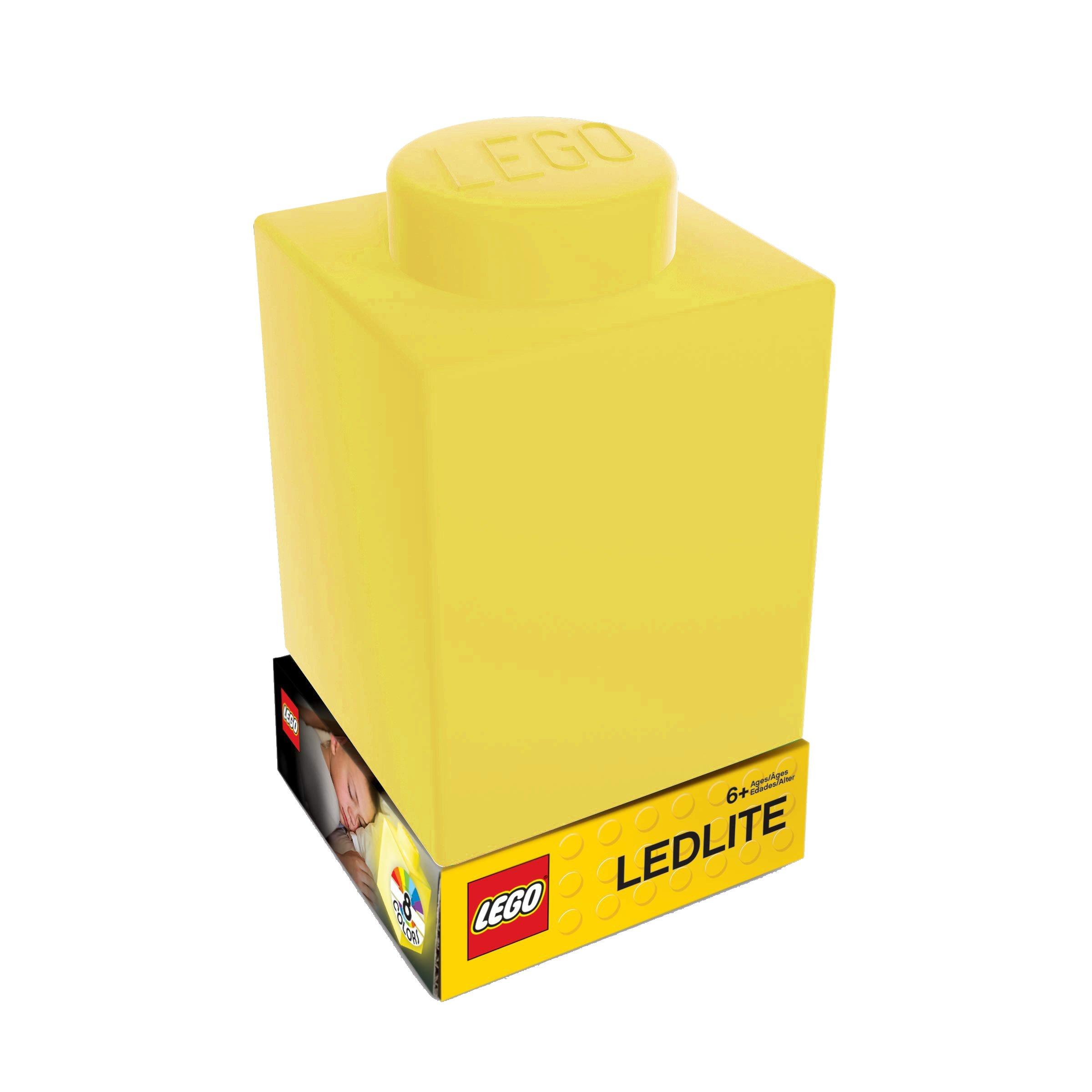 LEGO - Silicone Brick - Night Light w/LED - Yellow