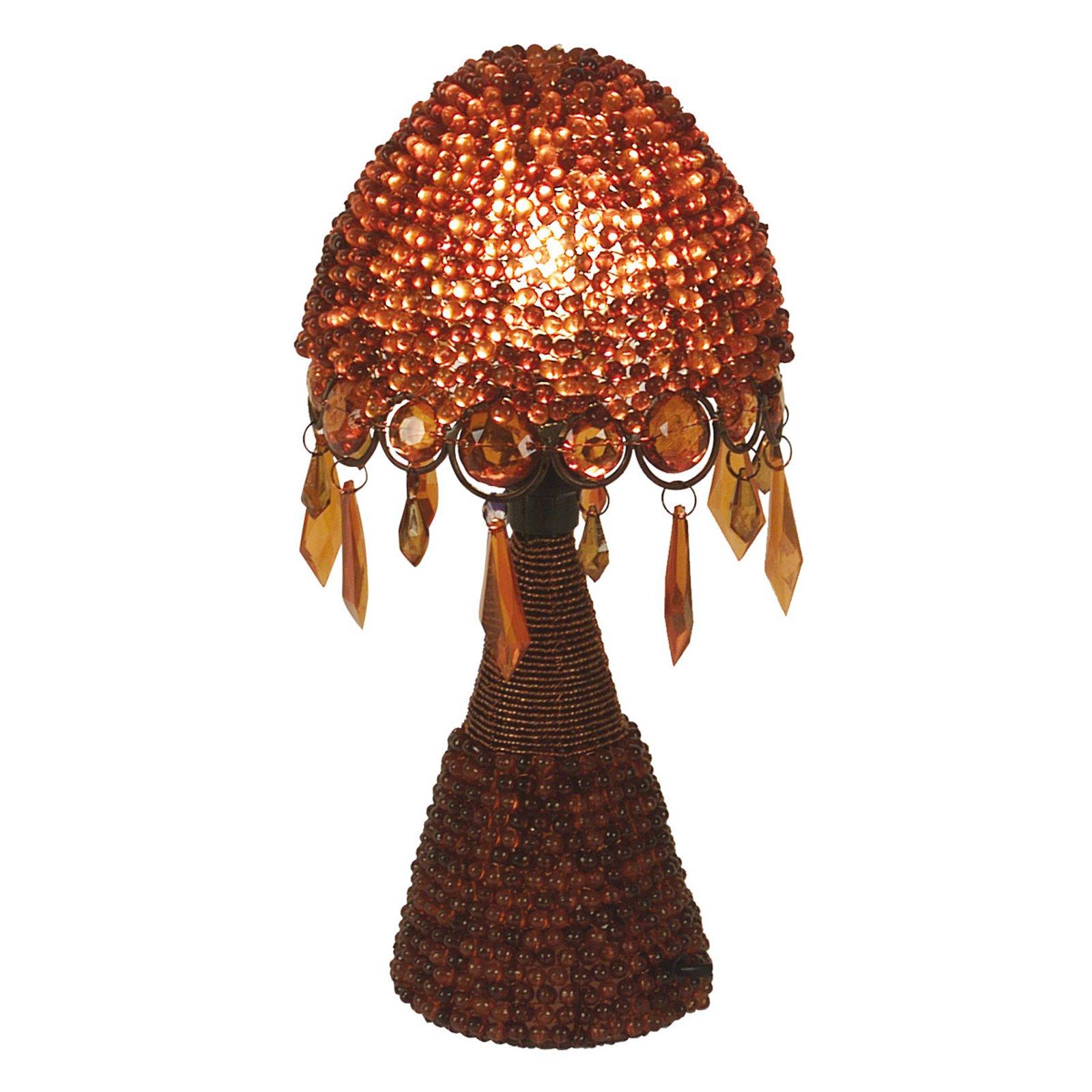 Bordlampe Perla, 30 cm rød
