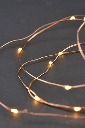 Ljusslinga 80 lampor 10m Koppar