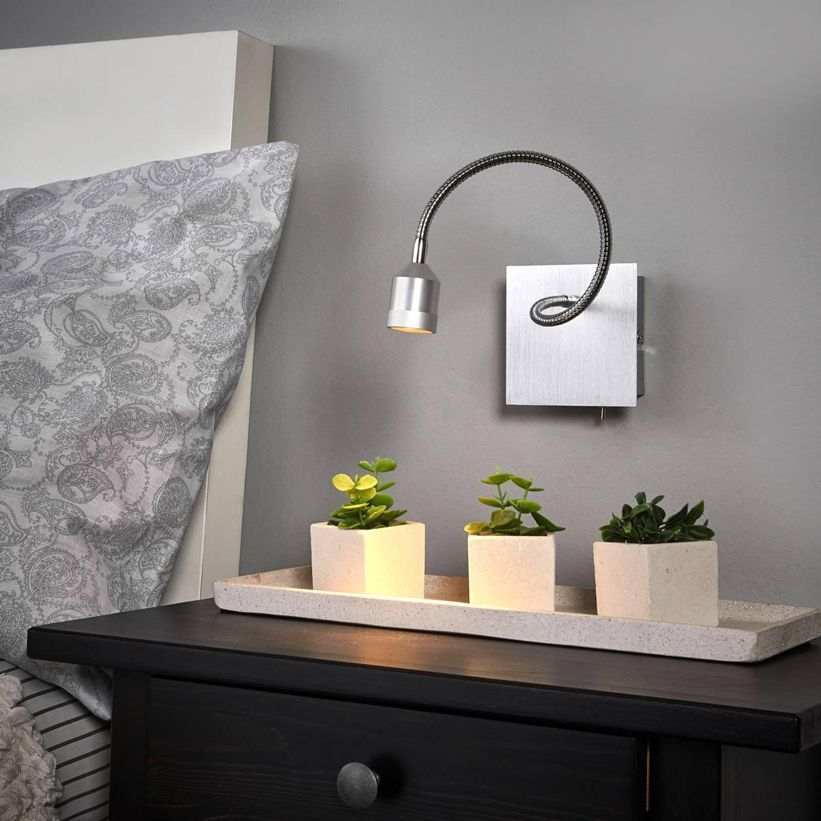 Praktisk Lovi LED-vegglampe med fleksibel arm