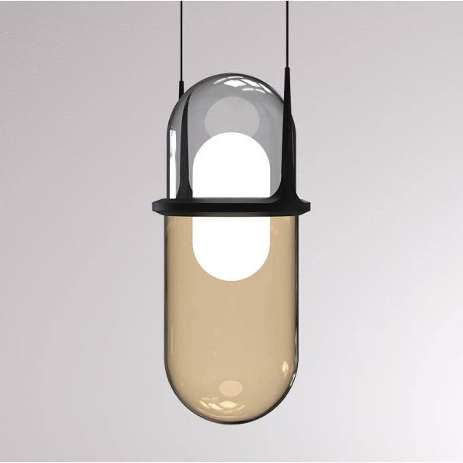 LOUM Pille LED-pendellampe grå/champagne