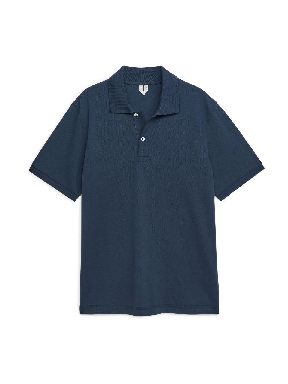 Piqué Polo Shirt - Blue