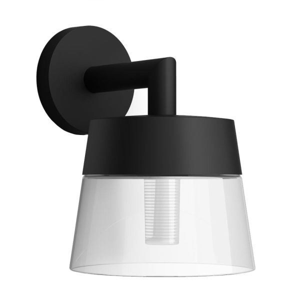Philips Hue Attract Vegglampe svart, 8 W, 600 lm