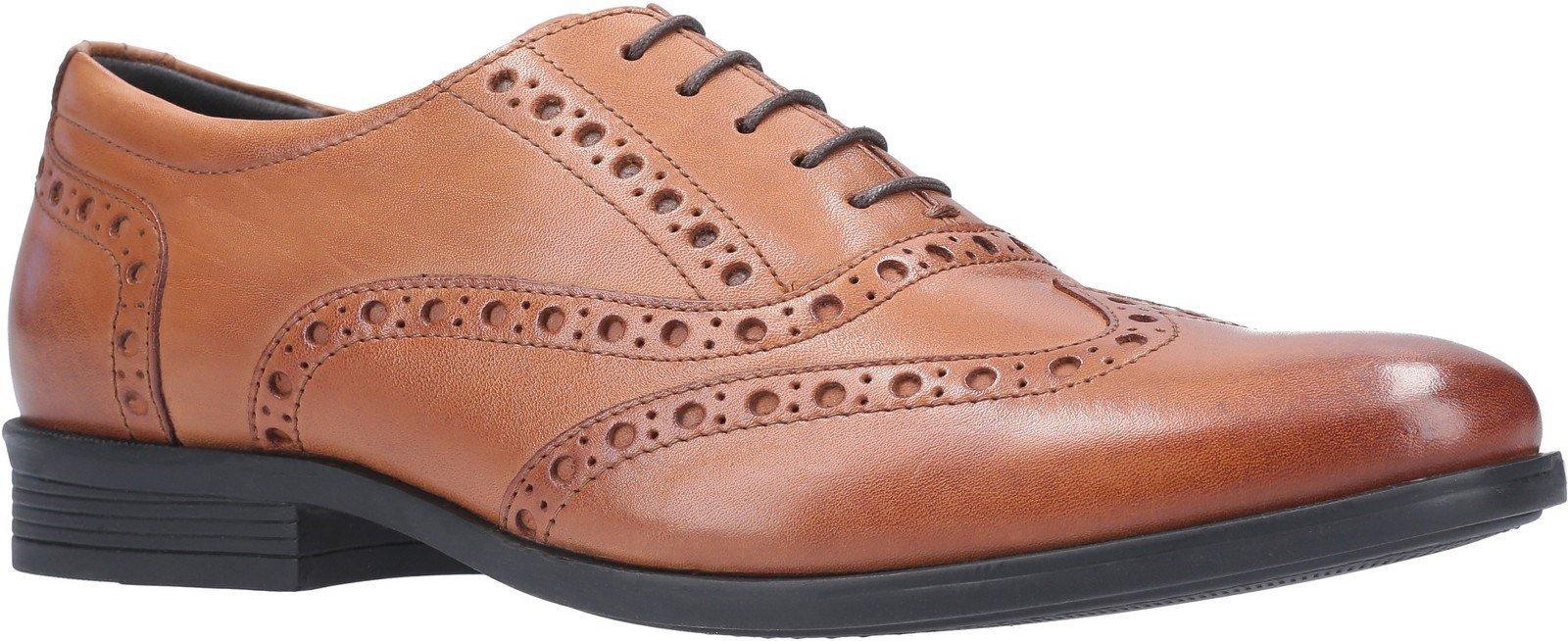 Hush Puppies Men's Oaken Brogue Shoe Various Colours 29188 - Dark Brown 6