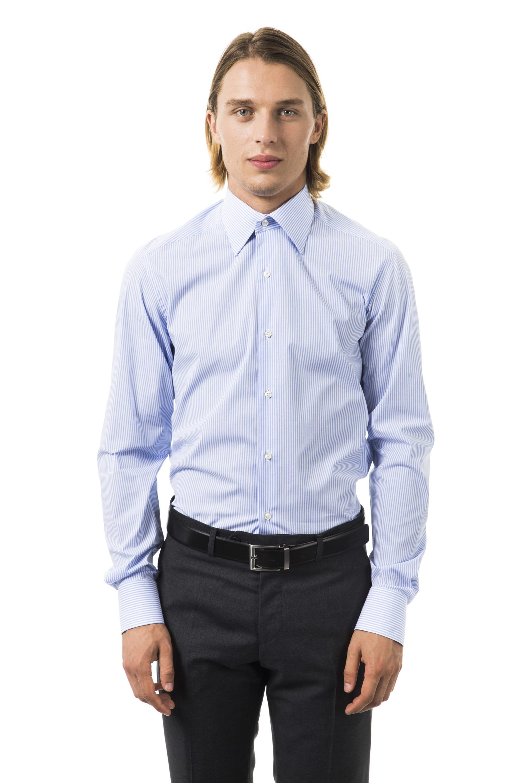 Uominitaliani Men's Cielo Shirt Light Blue UO1394669 - XL
