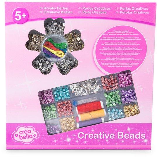 Crea Bella Creative Beads Alfabet Perler, Gull/Sølv