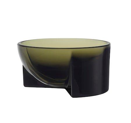 Kuru Glasskål Mosegrønn 13x6 cm