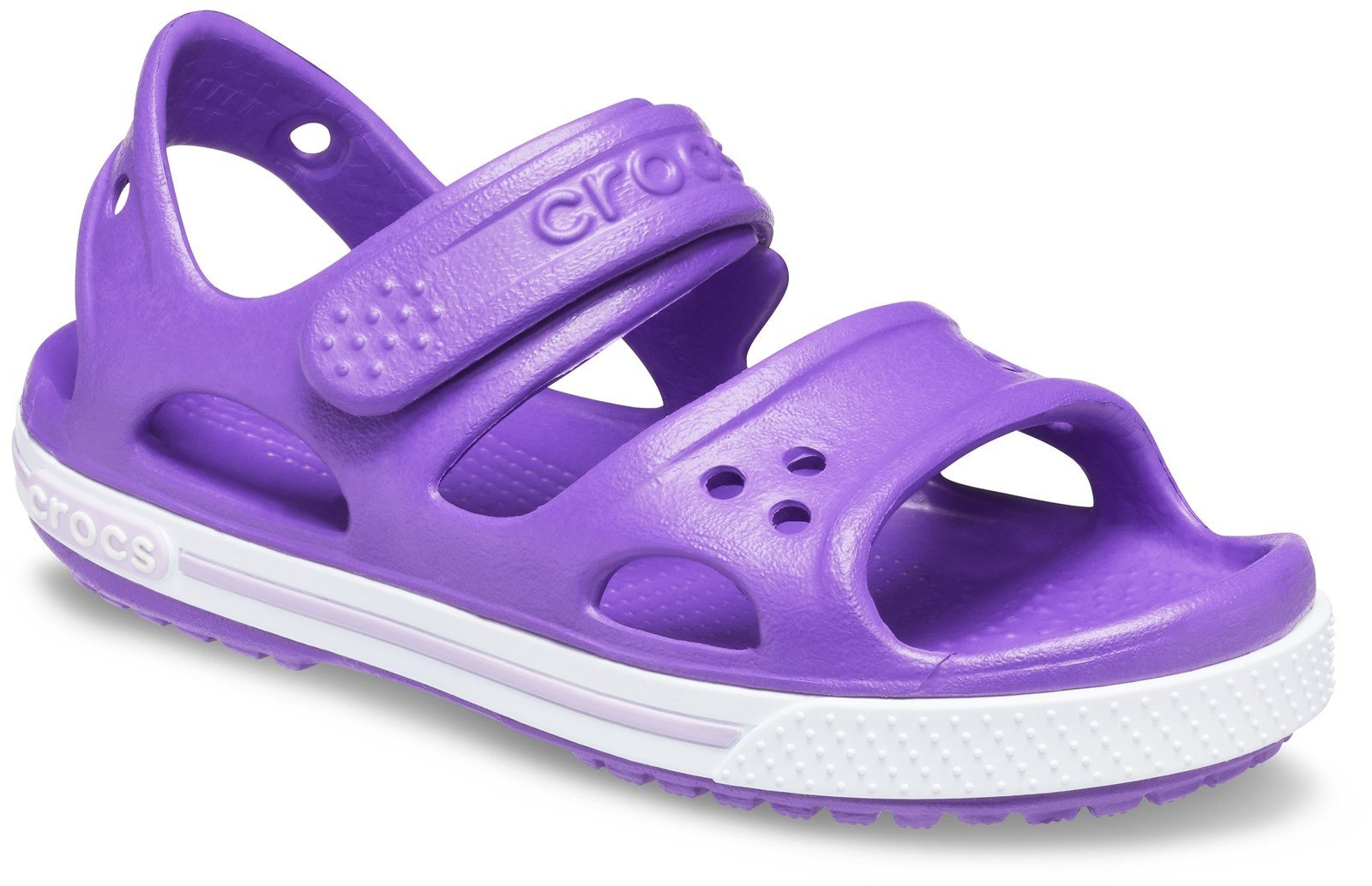 Crocs Kid's Crocband ll Touch Fastening Sandal Various Colours 28788 - Neon Purple 4