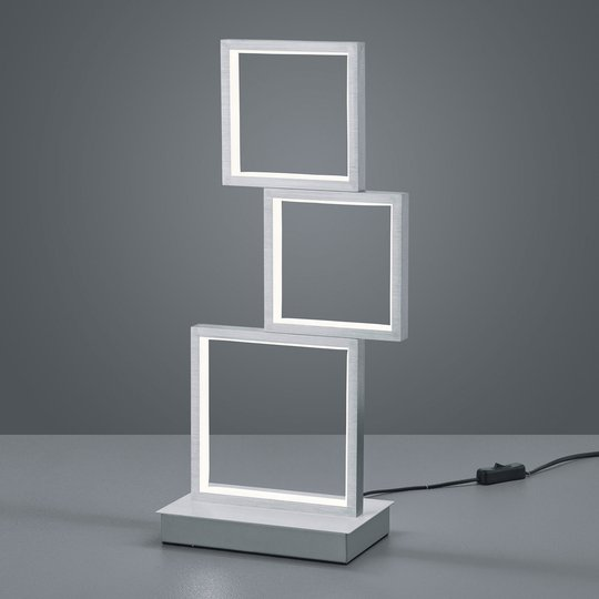 LED-bordlampe Sorrento, børstet alu