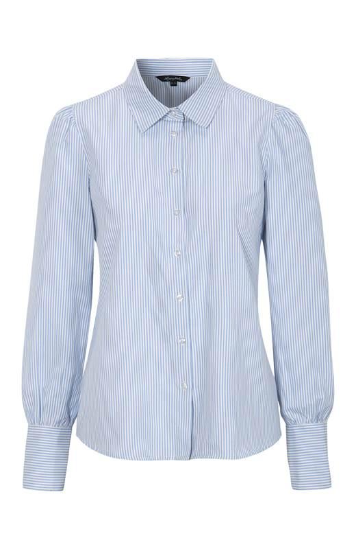 Happy Holly Randig skjorta Isa Ljusblå Vit