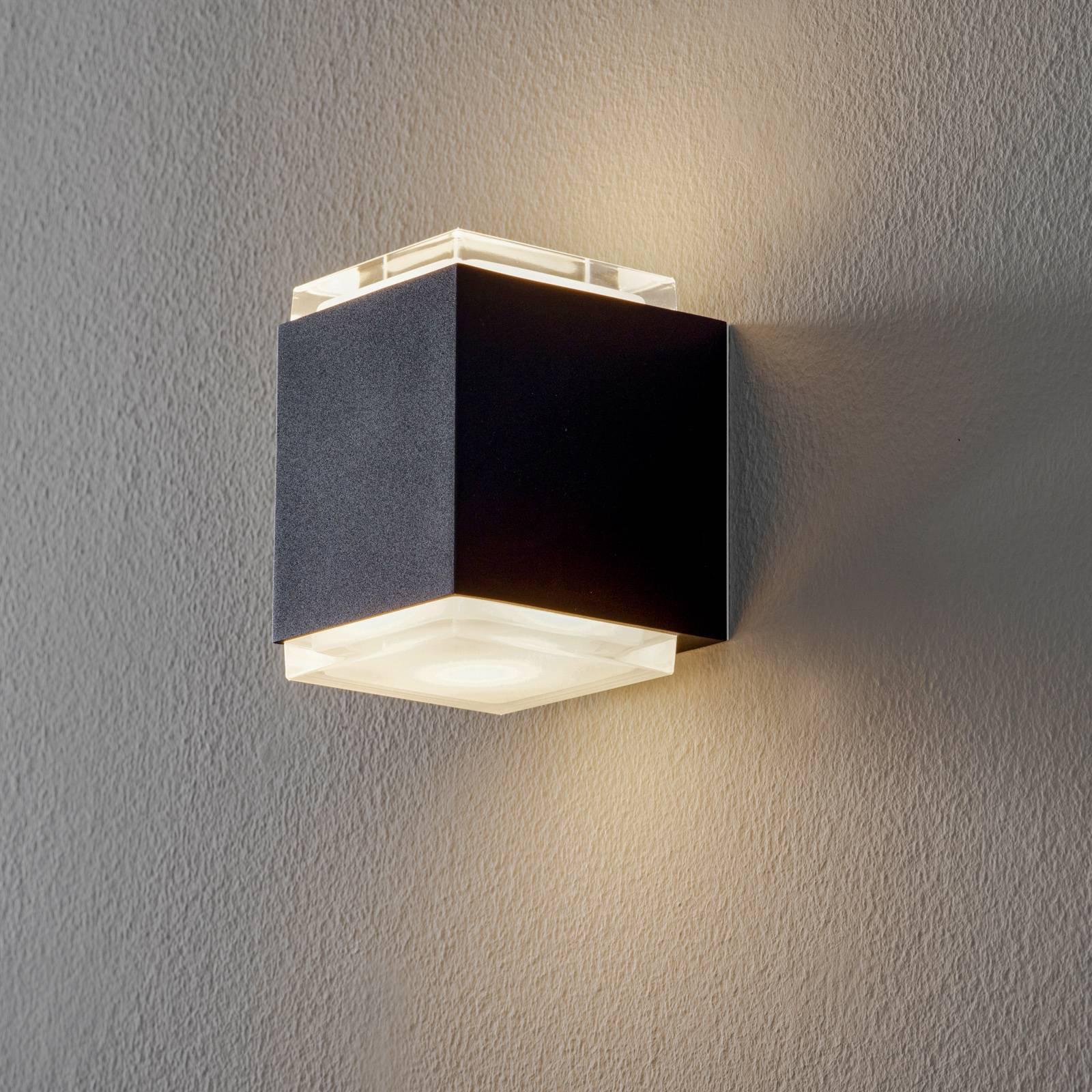 BEGA 50063 LED-vegglampe 3 000 K 9 cm fløyelssvart