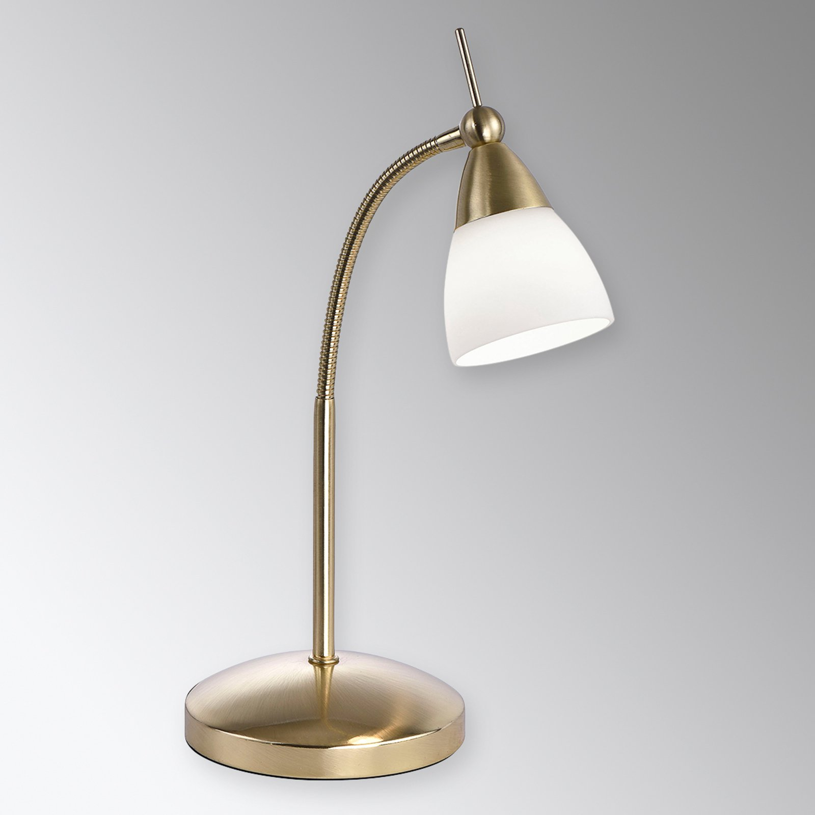Messingfarget LED-bordlampe Pino med dimmer