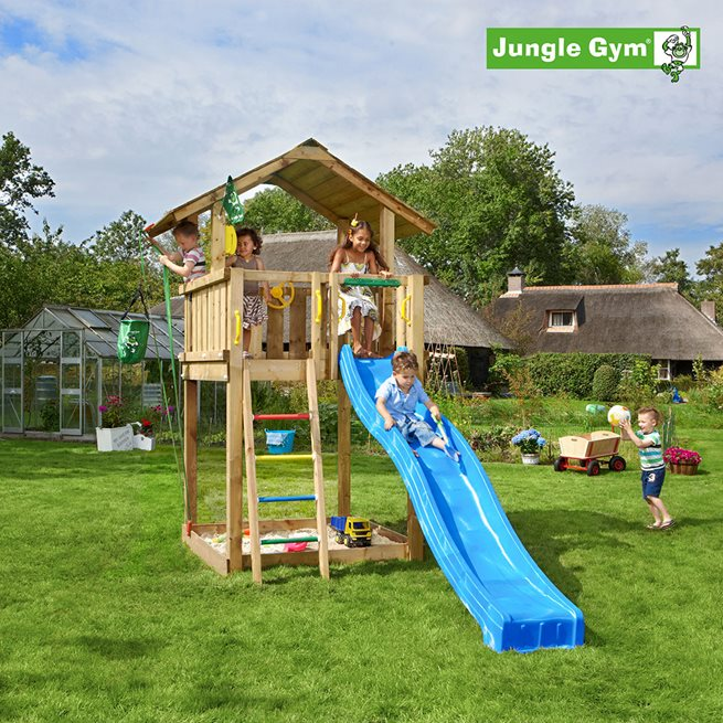 Jungle Gym Chalet lektorn komplett, Klätterställning