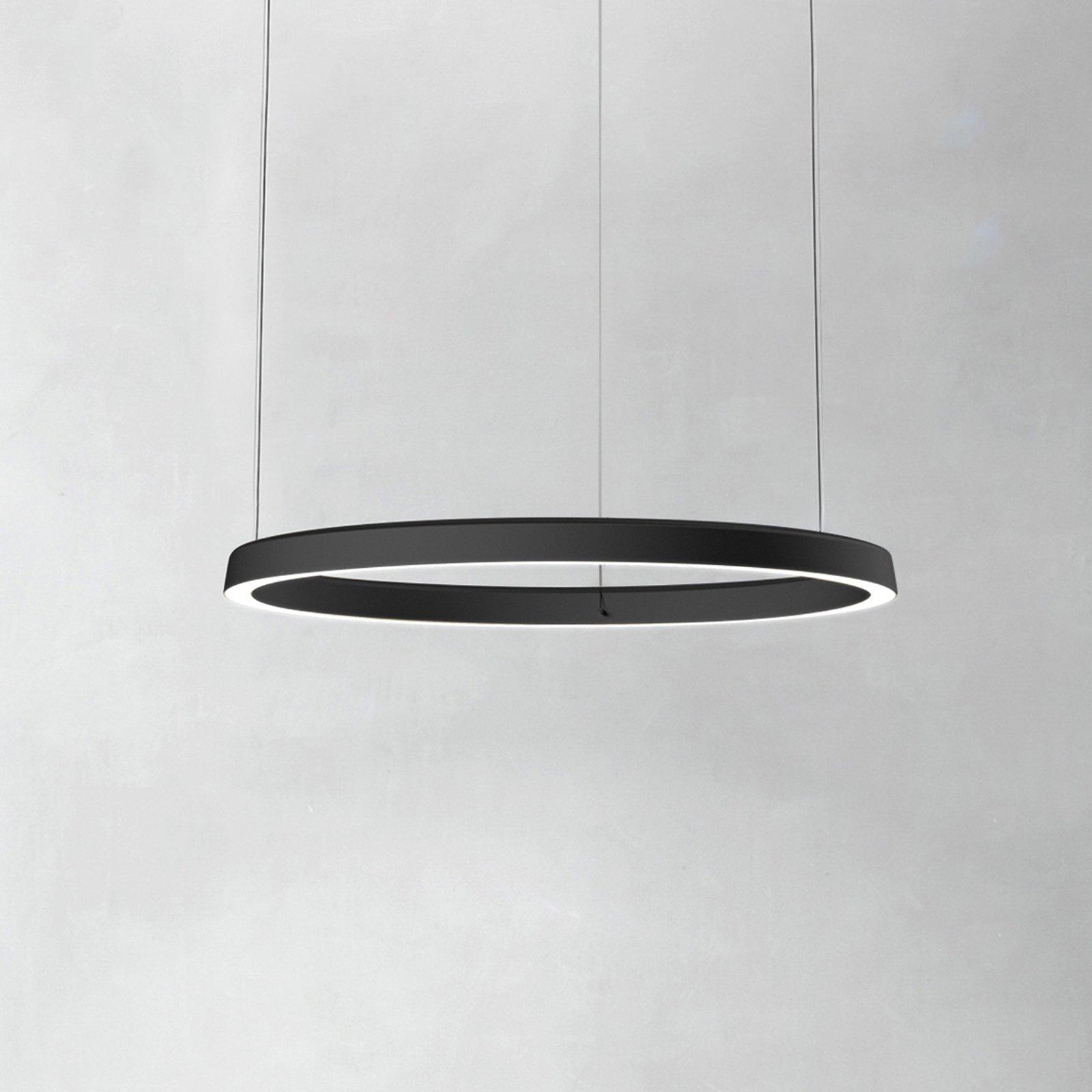 Luceplan Compendium Circle 72 cm, svart