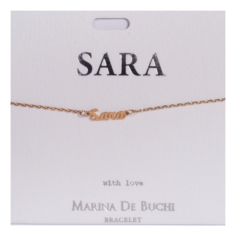 Namnarmband Guld - Sara