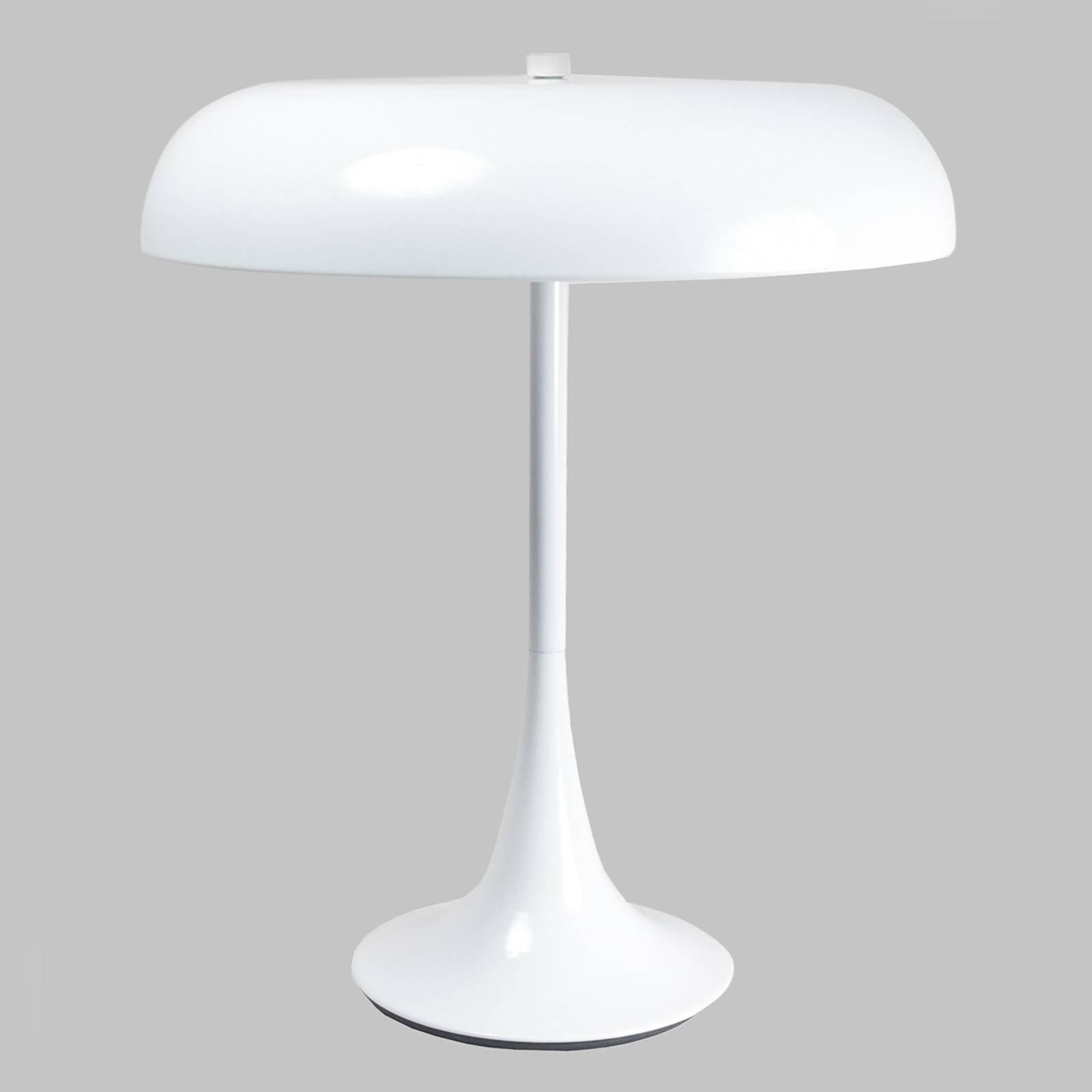 Madison hvit lakkert bordlampe