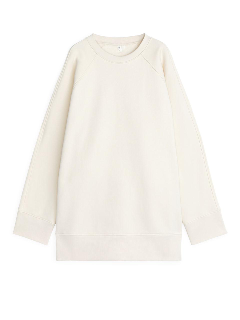 Oversized Sweatshirt - Beige