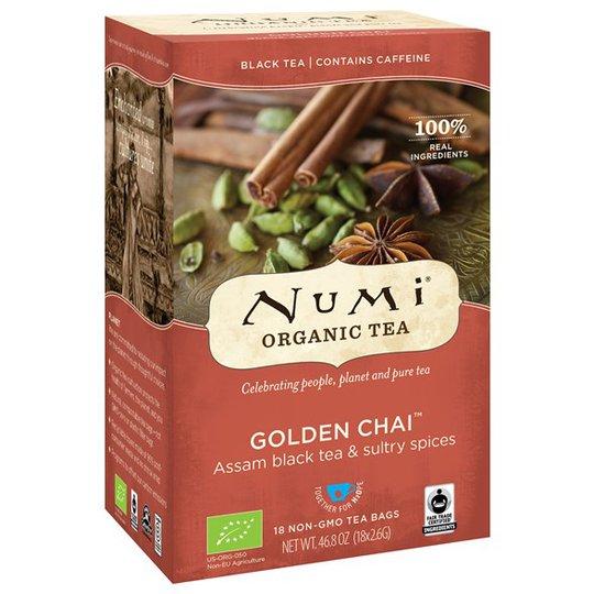Numi Organic Tea Golden Chai, 18 påsar