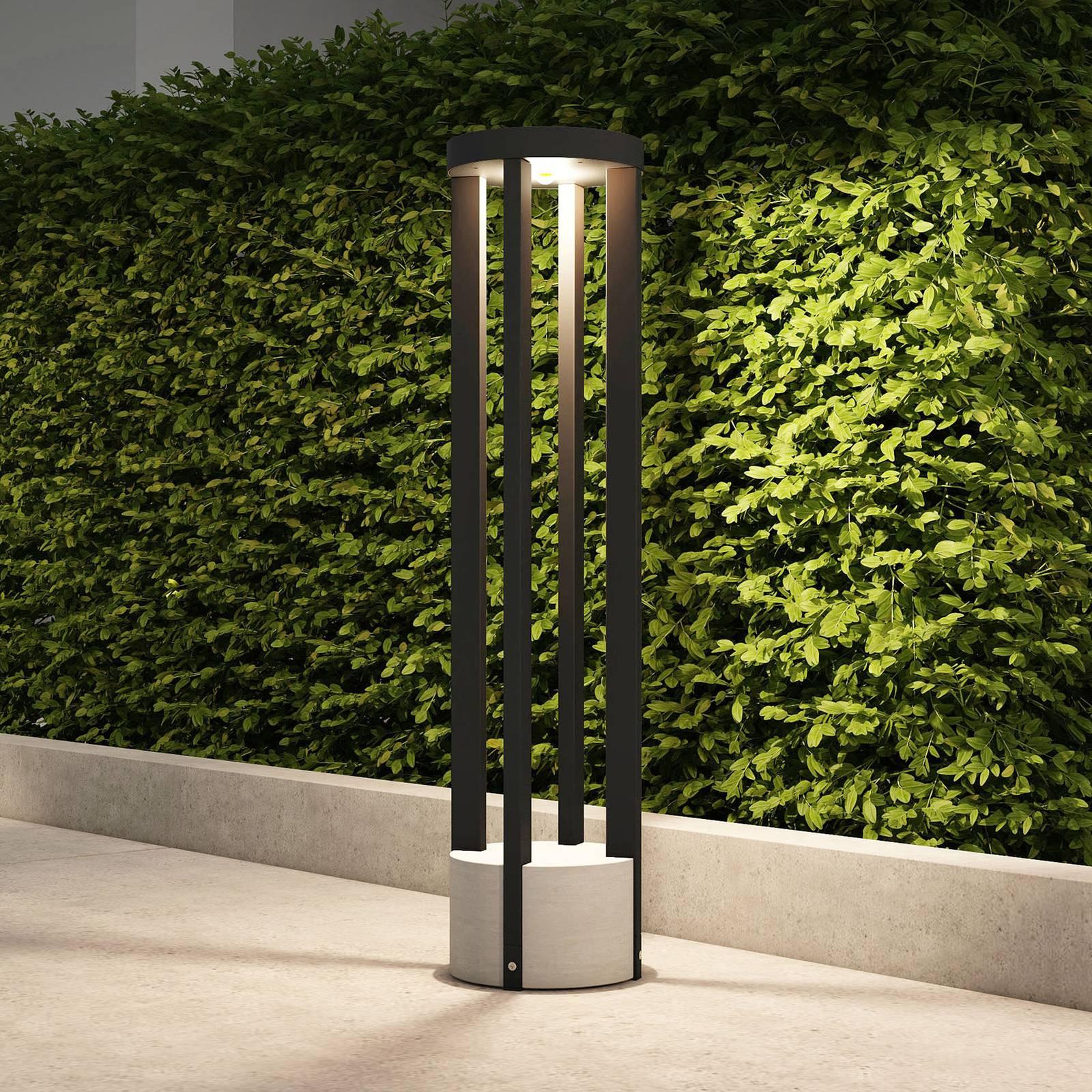 Lucande Overa -LED-pylväsvalaisin, pyöreä