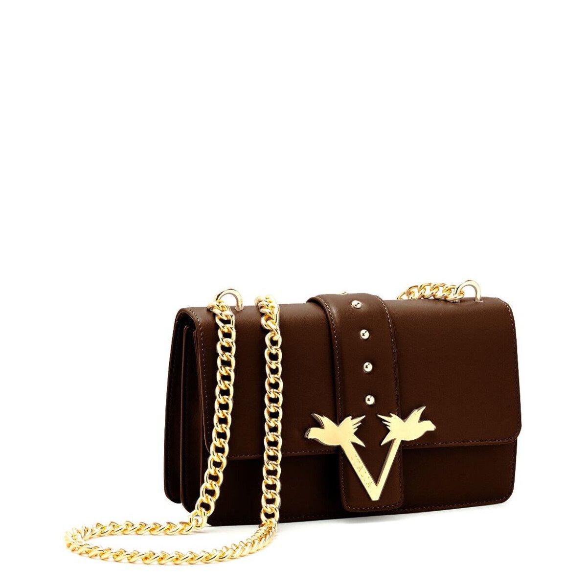 19v69 Italia Women's Shoulder Bag Various Colours 318676 - brown UNICA