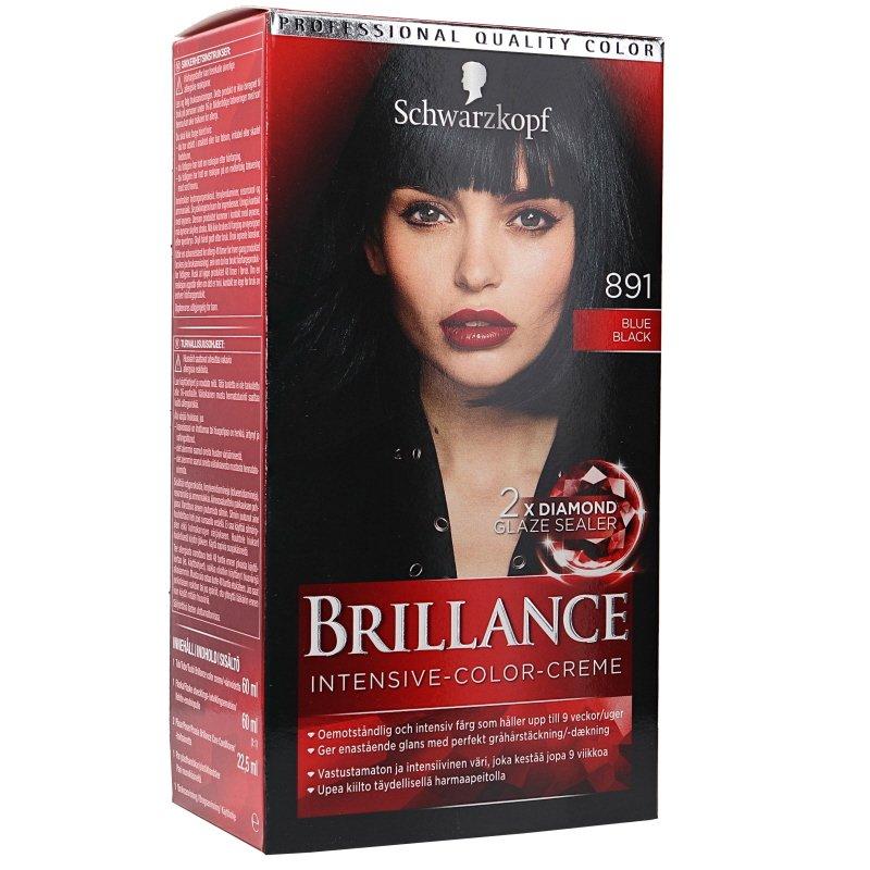 Hiusten Värjäysaine Brillance 891 Sininen Musta - 34% alennus