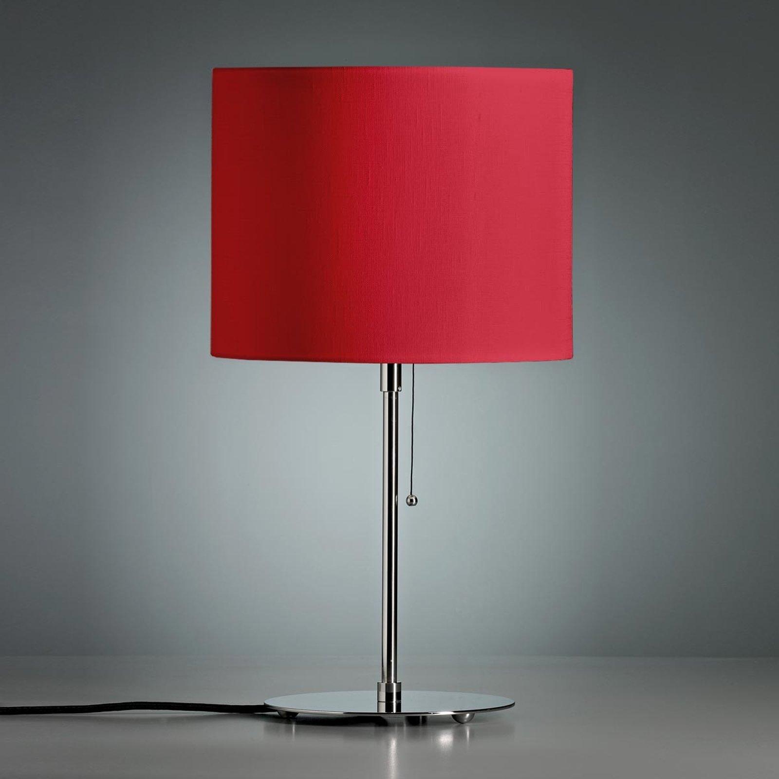 Bordlampe med farget linskjerm rød