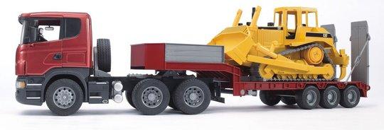 Bruder Scania R-Series Lastebil Med Cat Bulldoser 03555