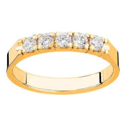 Diamantring i 18K guld, 64