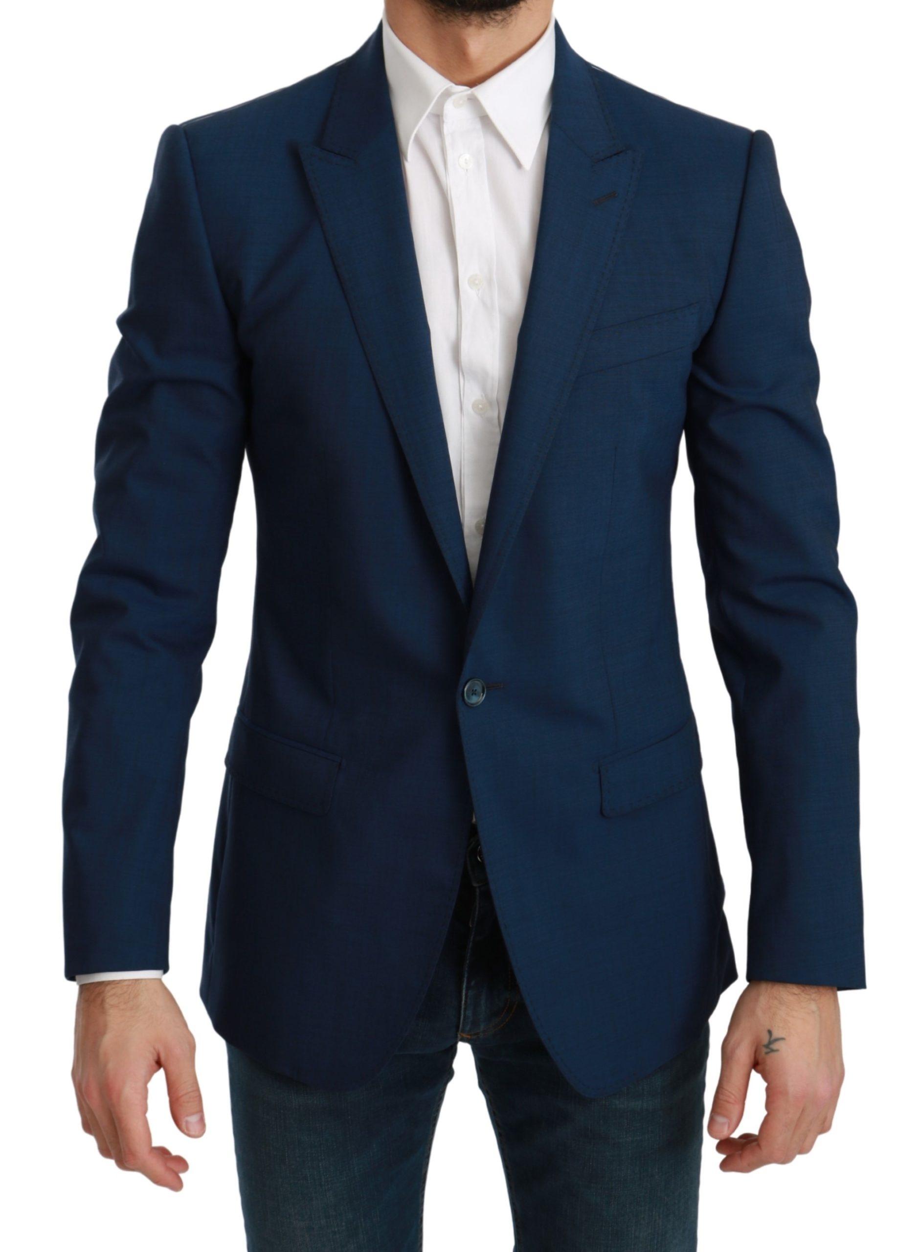 Dolce & Gabbana Men's Slim Fit Formal MARTINI Blazer Blue KOS1709 - IT48   M