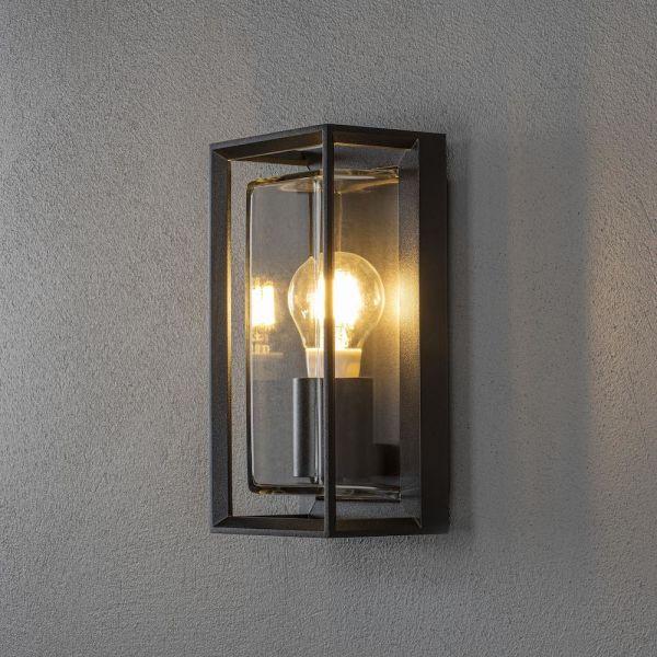 Konstsmide Brindisi Seinävalaisin E27-kanta, musta