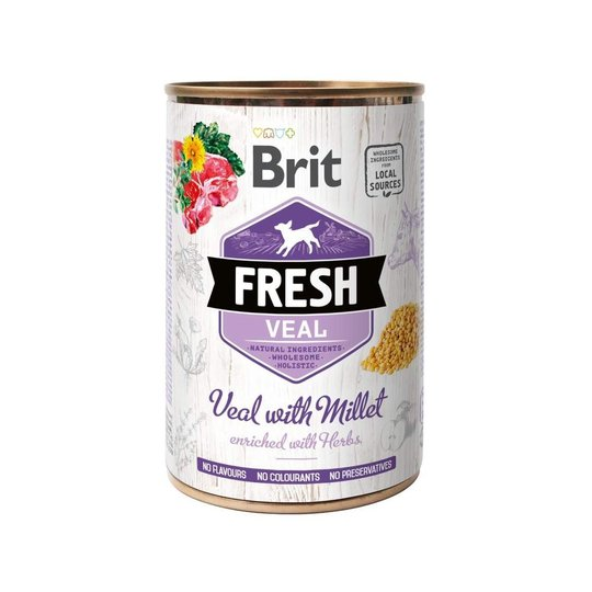 Brit Fresh Cans Veal with Millet