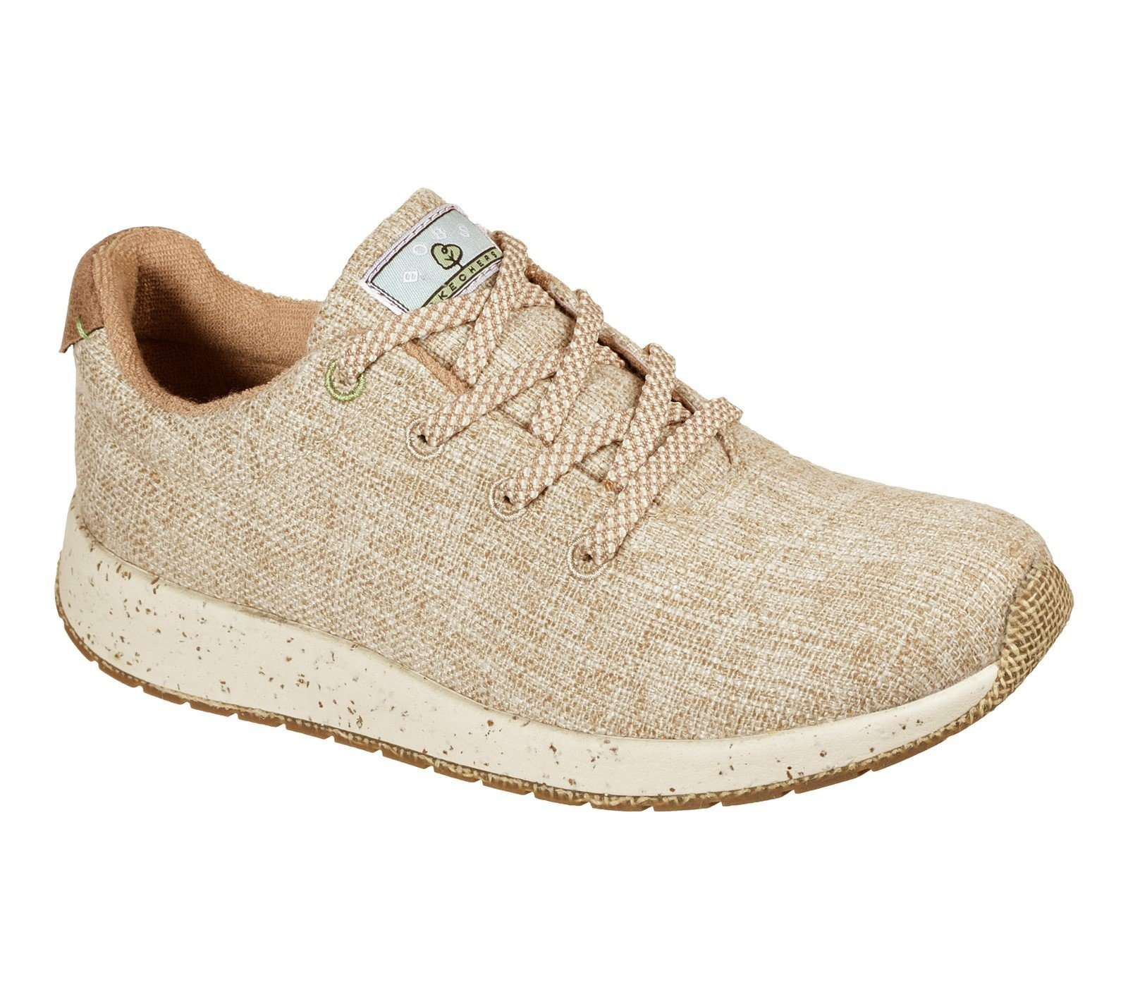 Skechers Women's Bobs Earth Sunset Peace Trainer Natural 32133 - Natural 4