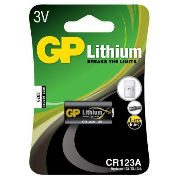 GP Batteries CR 123A-U1/123A Fotobatteri litium, 3V