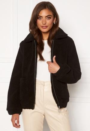 BUBBLEROOM Tove teddy jacket Black 34